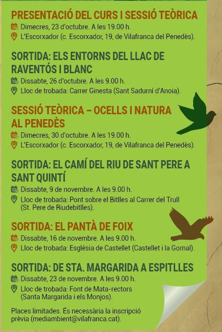 curs ornitología