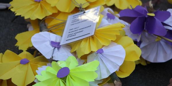 Contra la violència una flor