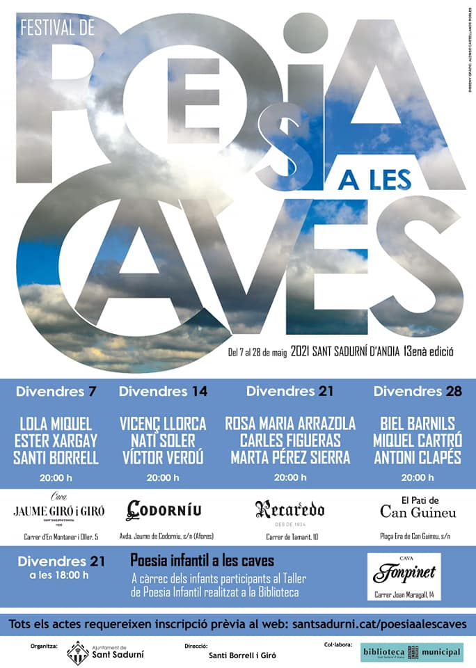 cartell poesia a les caves